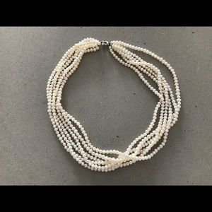 Genuine Multi-strand Pearl Necklace